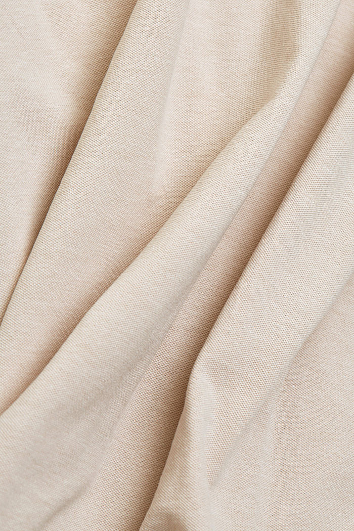 Recycled: Piqué polo shirt with organic cotton, LIGHT BEIGE, detail image number 4