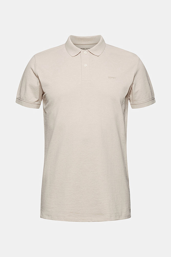 Recycled: Piqué polo shirt with organic cotton, LIGHT BEIGE, detail image number 5