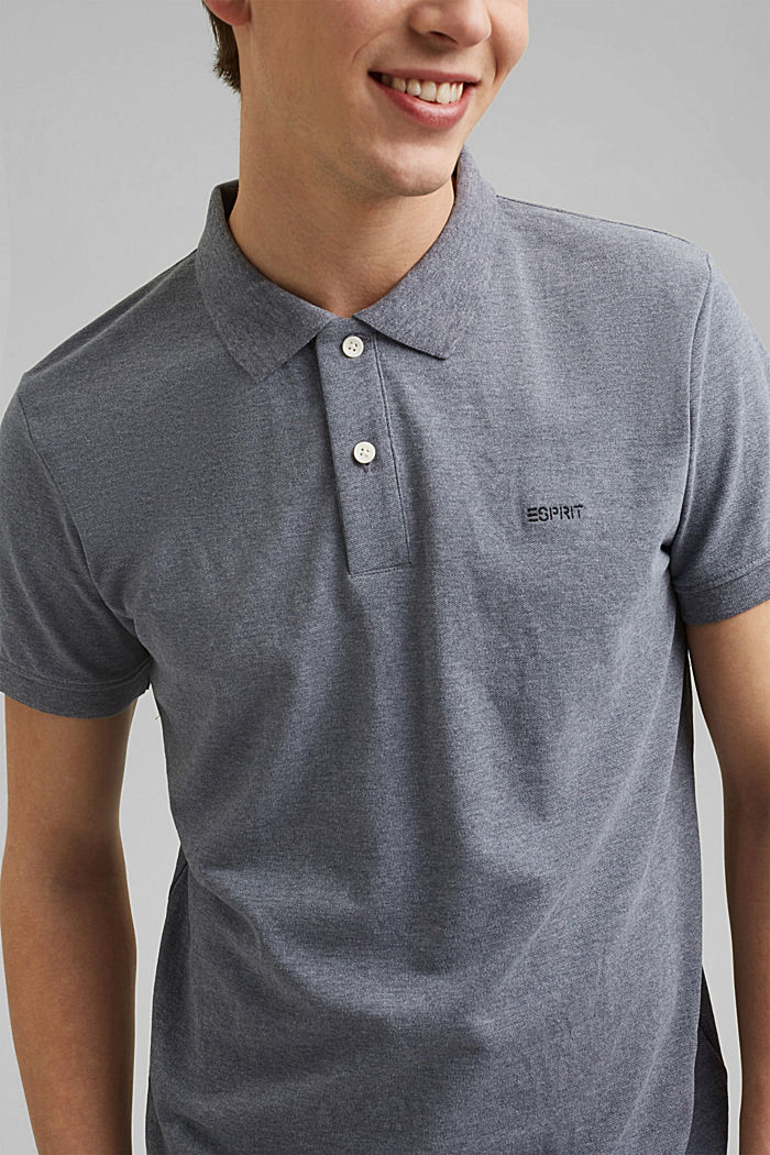 Recycled: Piqué polo shirt with organic cotton, NAVY, detail image number 1