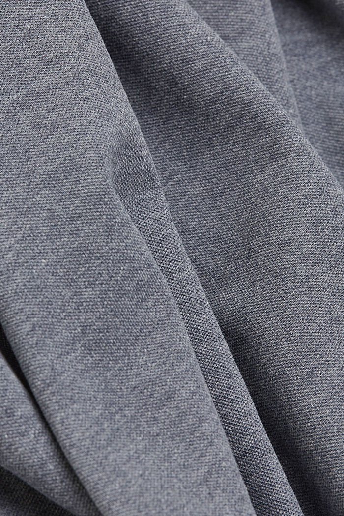 Recycled: Piqué polo shirt with organic cotton, NAVY, detail image number 4