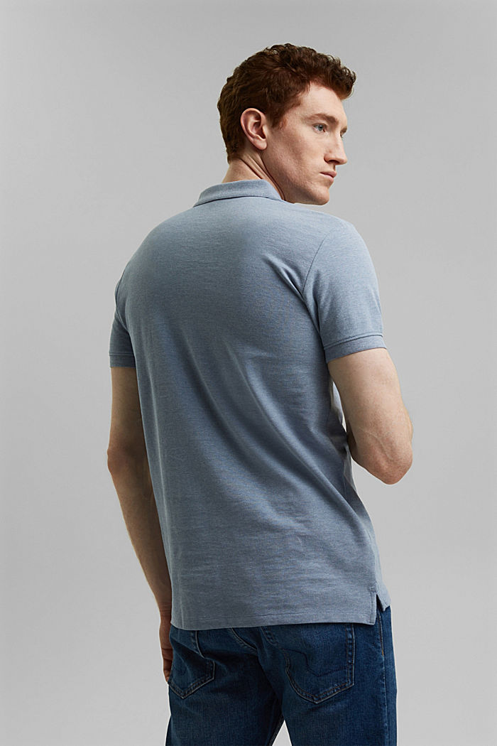 Recycled: Piqué polo shirt with organic cotton, GREY BLUE, detail image number 3