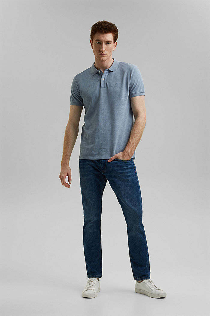 Recycled: Piqué polo shirt with organic cotton, GREY BLUE, detail image number 8