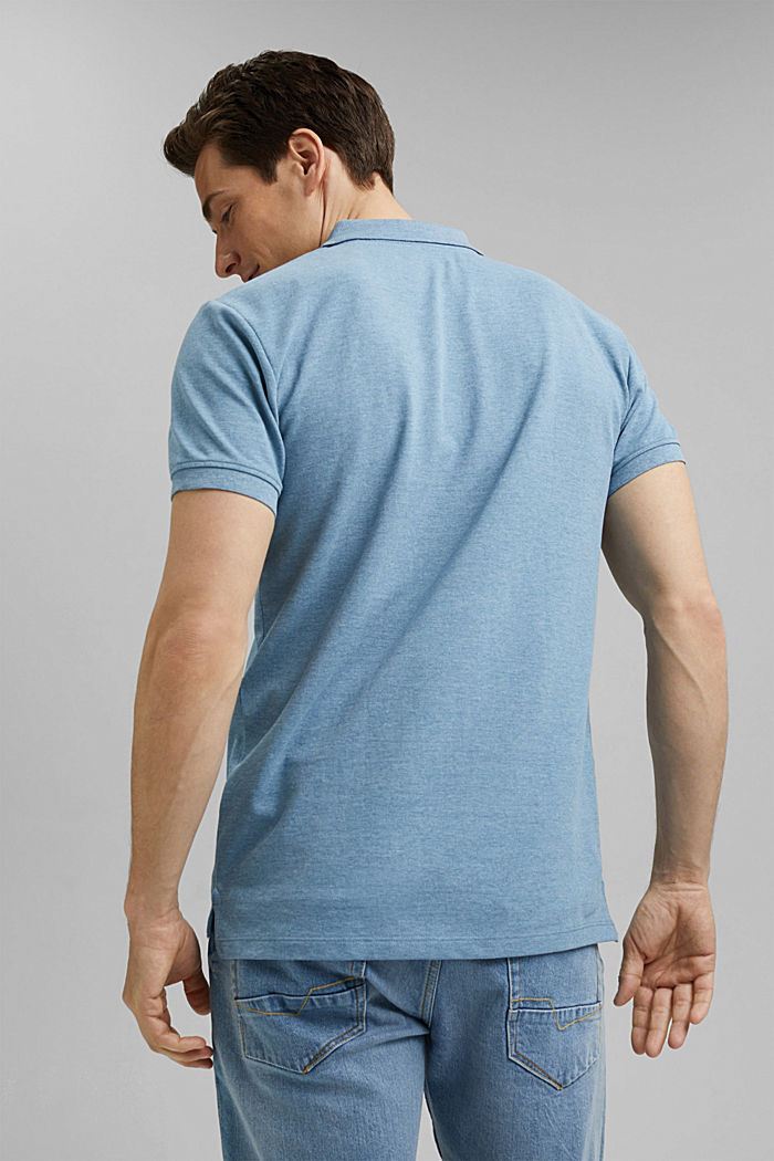 Recycled: Piqué polo shirt with organic cotton, NEW TEAL BLUE, detail image number 3