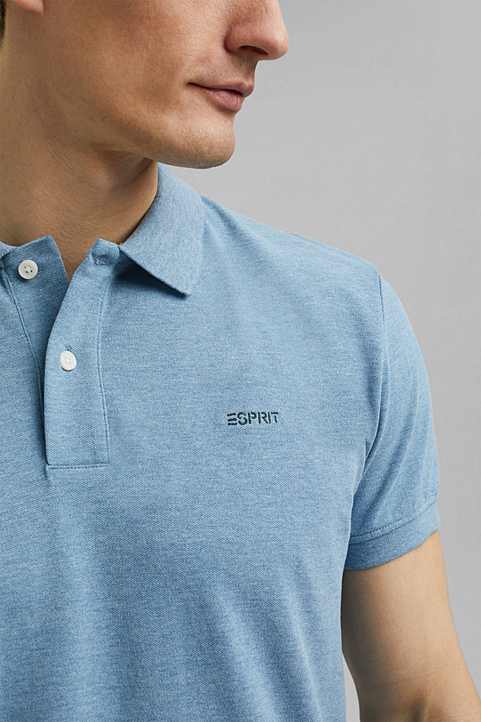 Recycelt: Piqué-Polo mit Organic Cotton, NEW TEAL BLUE, detail image number 1