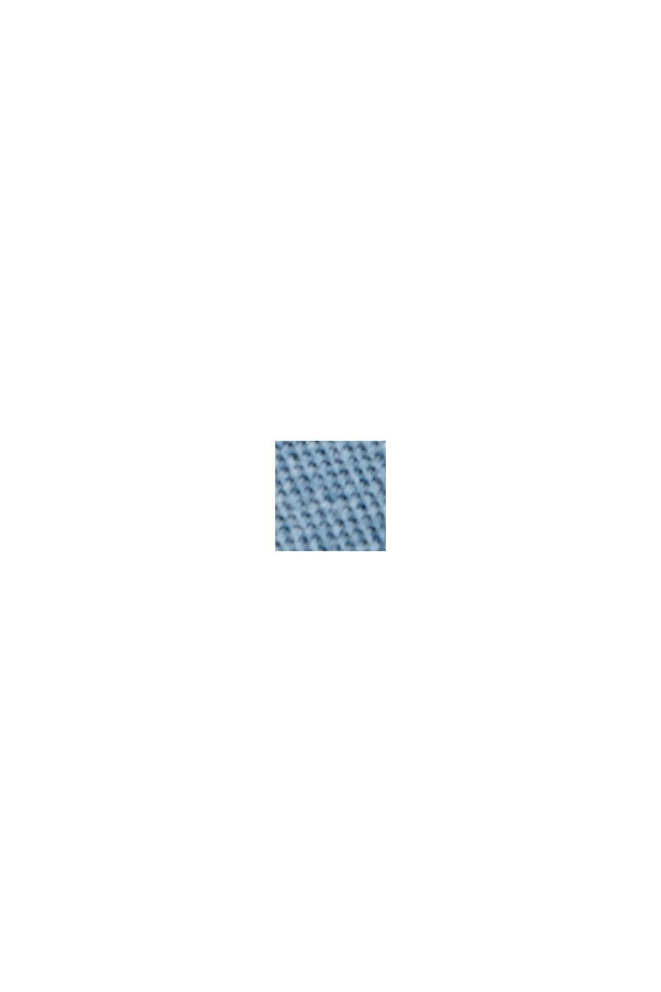 Kierrätettyä: luomupuuvillaa sisältävä pikeepaita, NEW TEAL BLUE, swatch