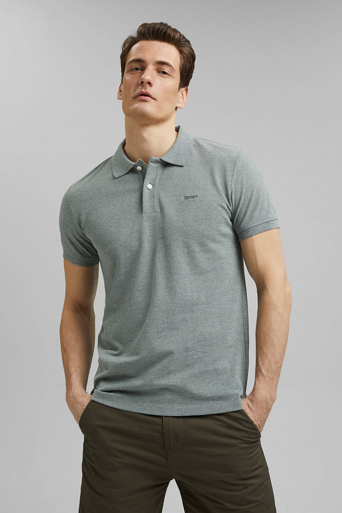 Recycled: Piqué polo shirt with organic cotton, TEAL BLUE, detail image number 0