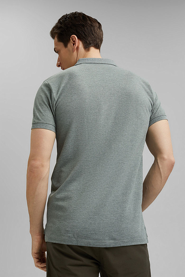 Recycled: Piqué polo shirt with organic cotton, TEAL BLUE, detail image number 3