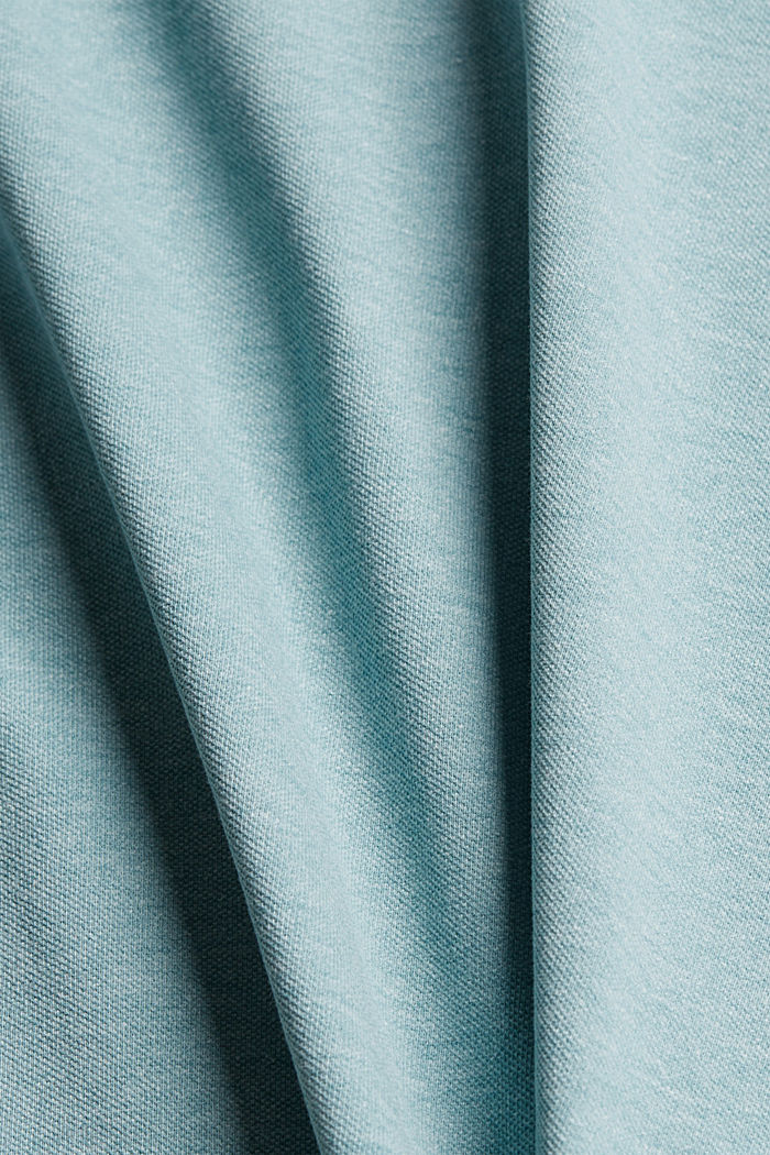 Recycled: Piqué polo shirt with organic cotton, TURQUOISE, detail image number 4