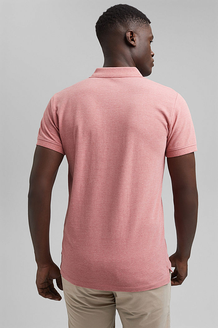 Recycled: Piqué polo shirt with organic cotton, CORAL RED, detail image number 3