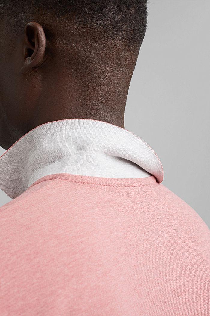 Z recyklingu: koszulka polo z pika z bawełną organiczną, CORAL RED, detail image number 5