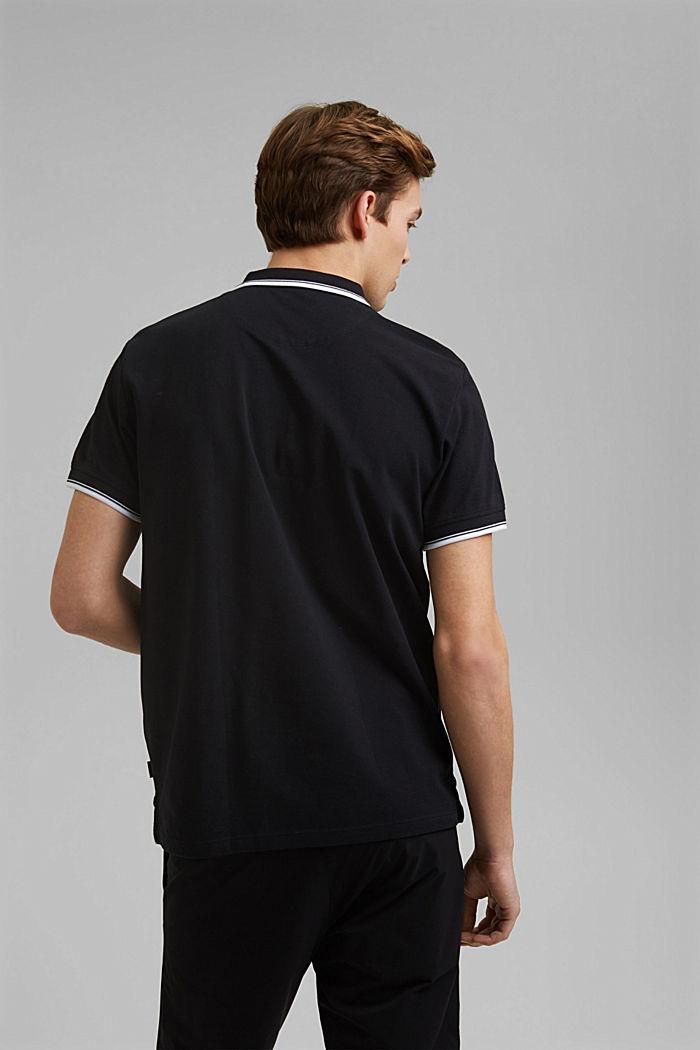 Piqué polo shirt made of 100% organic cotton, BLACK, detail image number 3