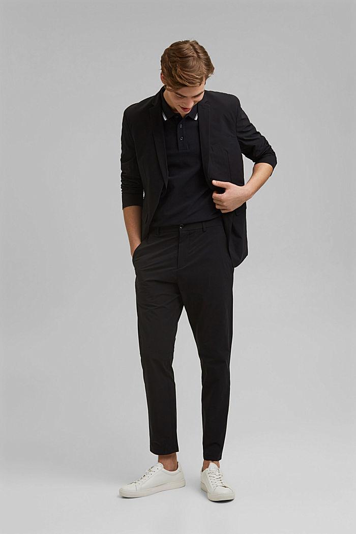 Piqué polo shirt made of 100% organic cotton, BLACK, detail image number 2