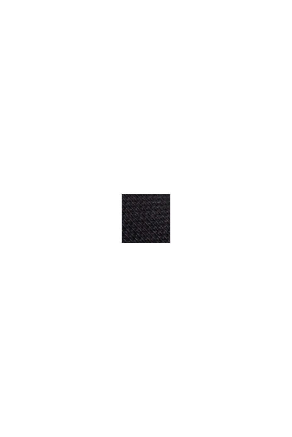 Polo en maille piquée, 100% coton biologique, BLACK, swatch