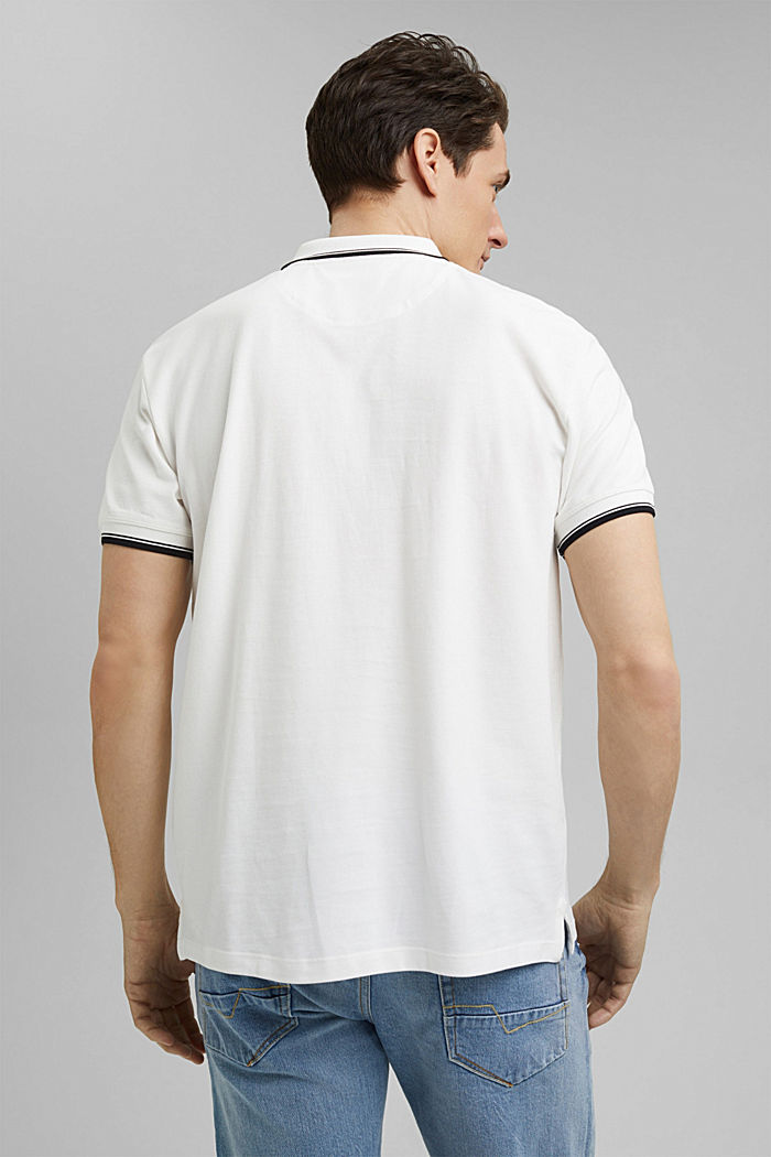 Piqué polo shirt made of 100% organic cotton, OFF WHITE, detail image number 3