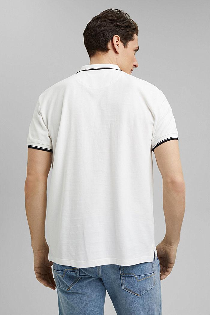 Piqué-Polo aus 100% Organic Cotton, OFF WHITE, detail image number 3