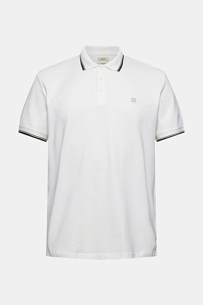 Piqué polo shirt made of 100% organic cotton, OFF WHITE, detail image number 6