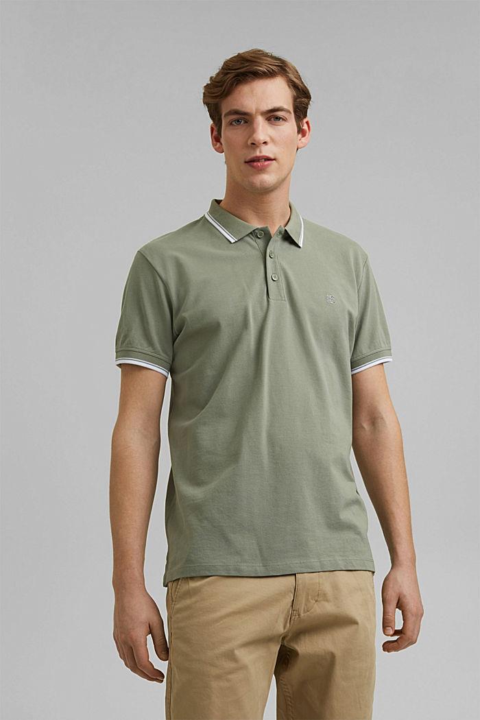 Piqué polo shirt made of 100% organic cotton, LIGHT KHAKI, detail image number 0