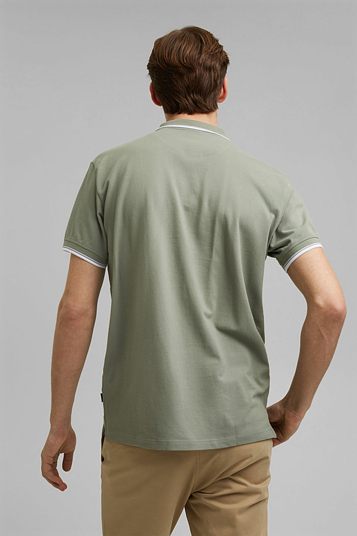 Piqué polo shirt made of 100% organic cotton, LIGHT KHAKI, detail image number 3