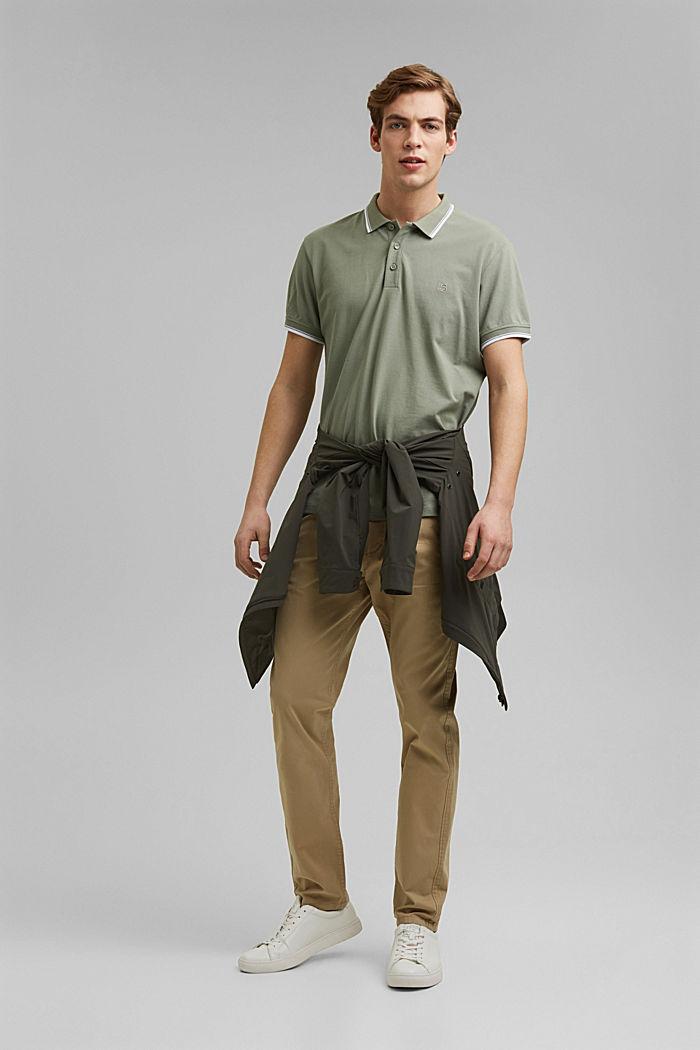 Piqué polo shirt made of 100% organic cotton, LIGHT KHAKI, detail image number 2