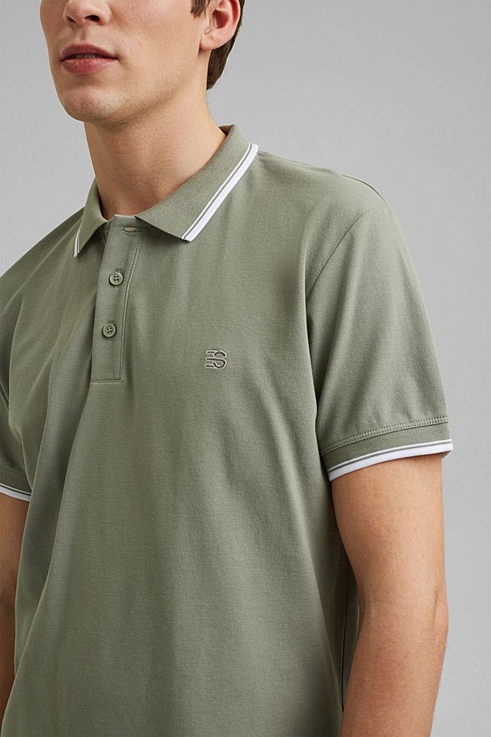 Piqué polo shirt made of 100% organic cotton, LIGHT KHAKI, detail image number 1