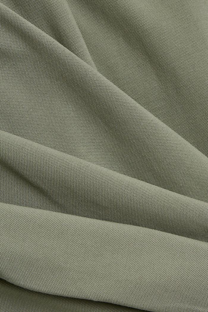 Piqué polo shirt made of 100% organic cotton, LIGHT KHAKI, detail image number 5