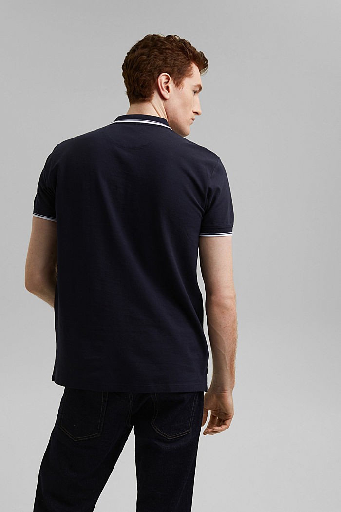 Piqué polo shirt made of 100% organic cotton, NAVY, detail image number 3