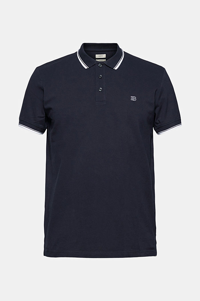 Piqué polo shirt made of 100% organic cotton, NAVY, detail image number 7
