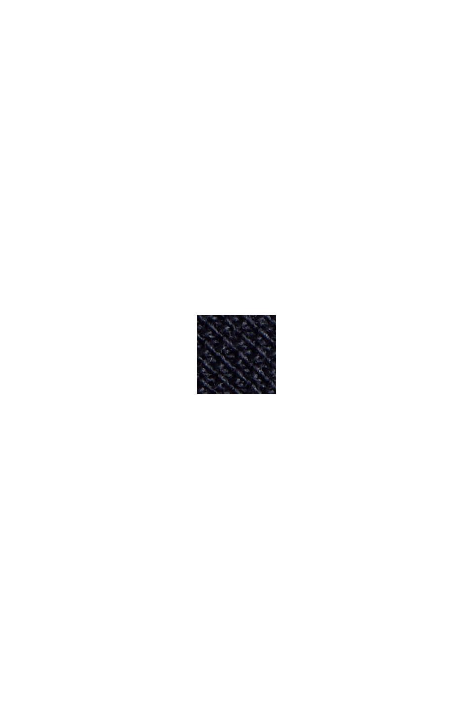 Polo en maille piquée, 100% coton biologique, NAVY, swatch