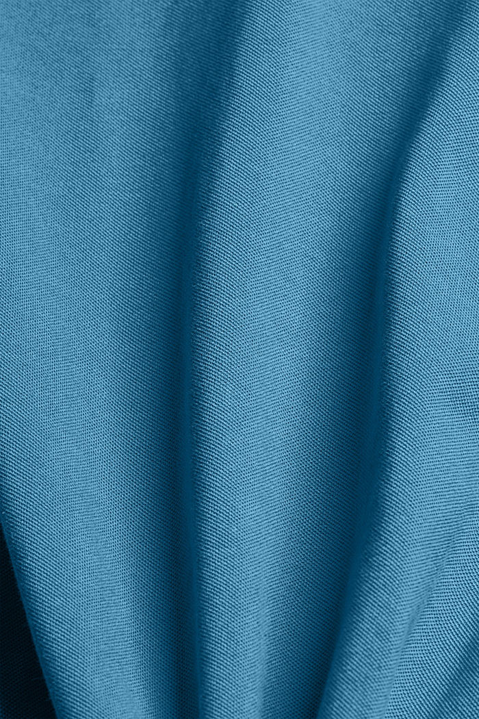 Piqué polo shirt made of 100% organic cotton, PETROL BLUE, detail image number 4