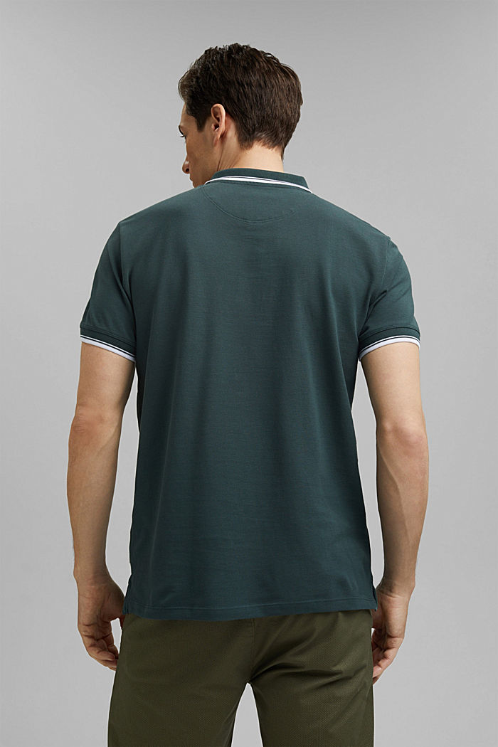 Piqué polo shirt made of 100% organic cotton, TEAL BLUE, detail image number 3