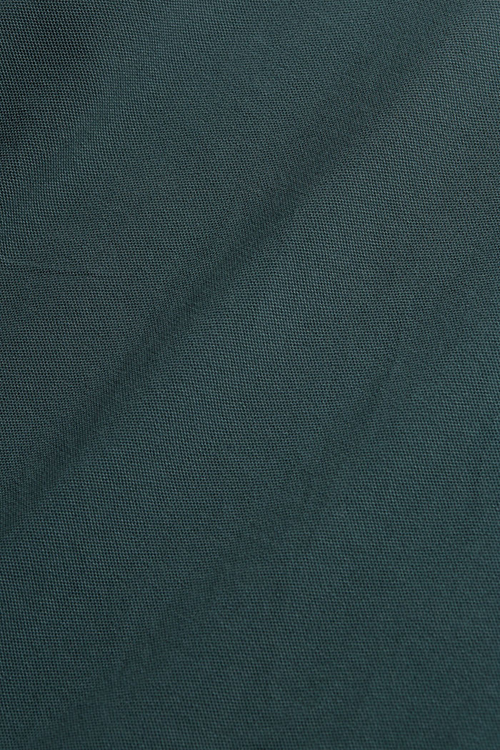 Piqué polo shirt made of 100% organic cotton, TEAL BLUE, detail image number 4