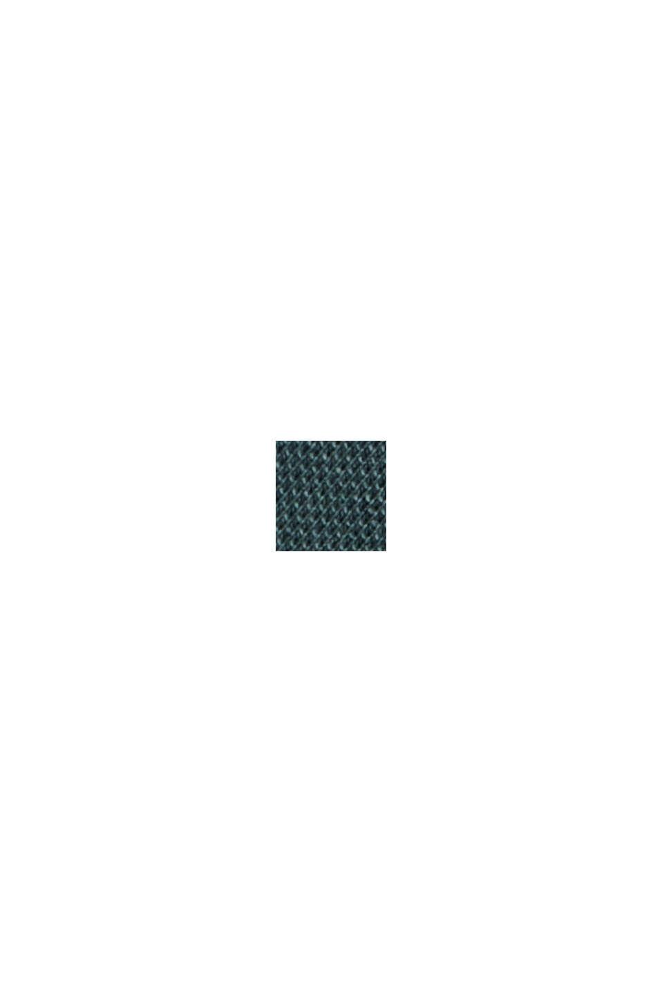 Polo en maille piquée, 100% coton biologique, TEAL BLUE, swatch