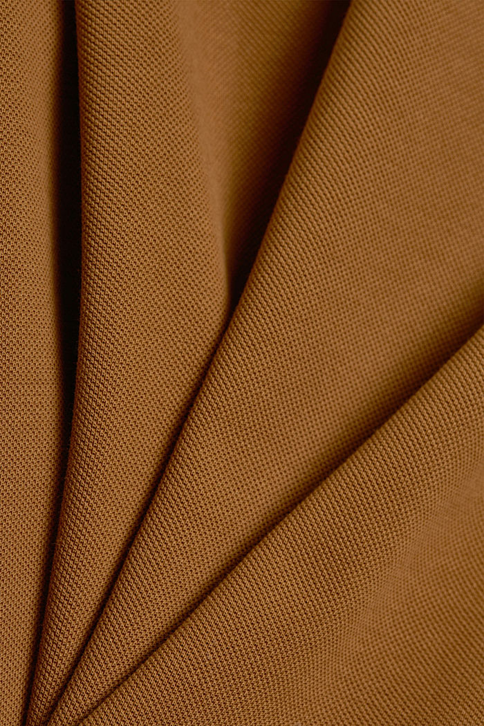Piqué polo shirt in 100% organic cotton, CAMEL, detail image number 4