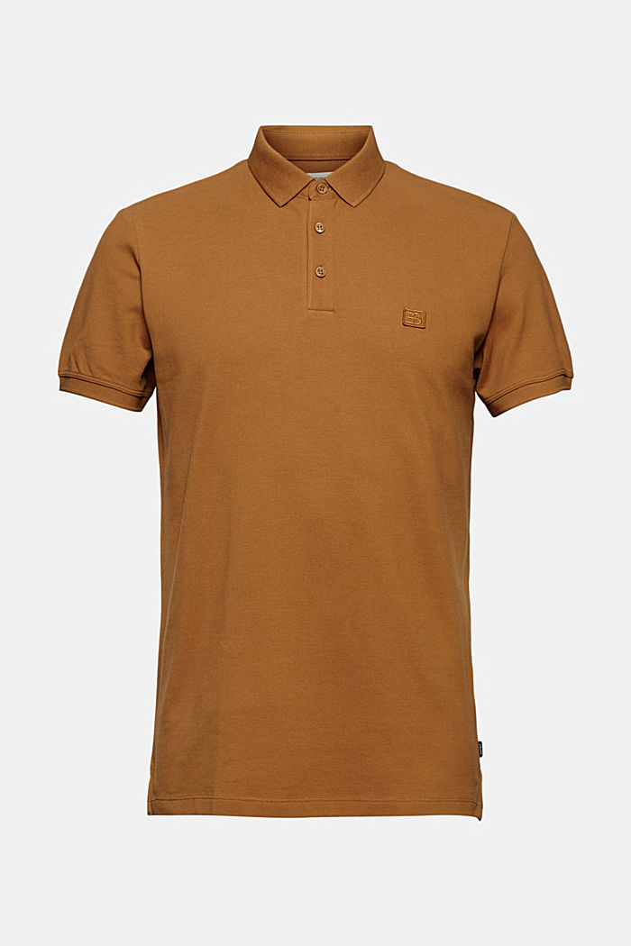 Piqué polo shirt in 100% organic cotton, CAMEL, detail image number 5