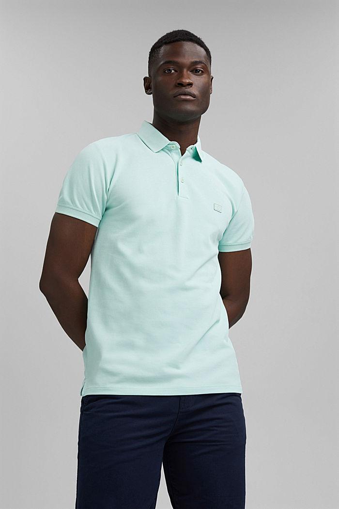 Piqué polo shirt in 100% organic cotton, PASTEL GREEN, detail image number 0