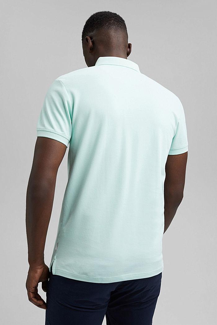 Piqué polo shirt in 100% organic cotton, PASTEL GREEN, detail image number 3