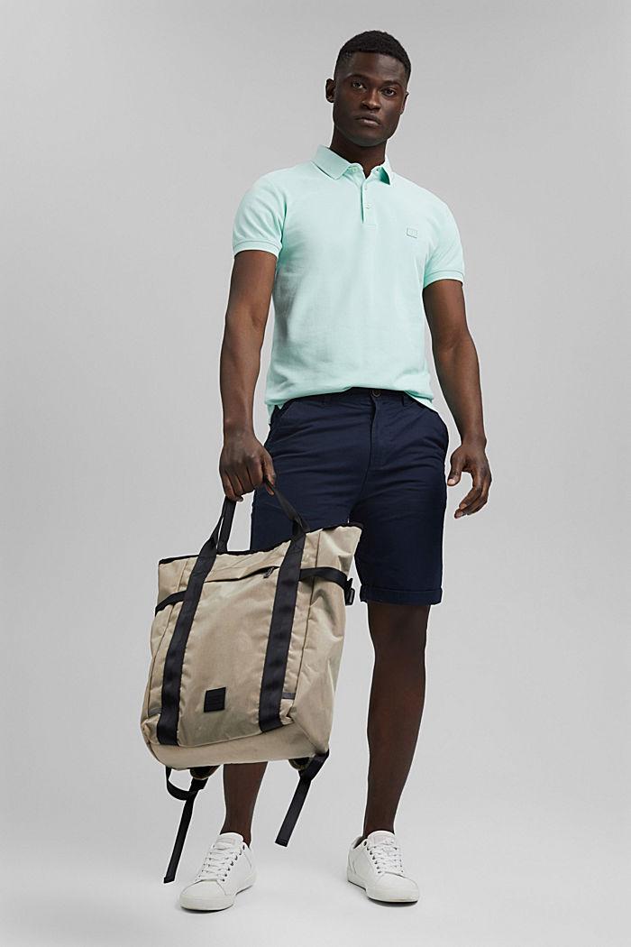 Piqué polo shirt in 100% organic cotton, PASTEL GREEN, detail image number 2