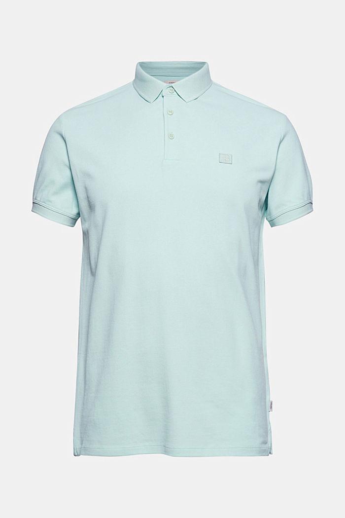 Piqué polo shirt in 100% organic cotton, PASTEL GREEN, detail image number 5