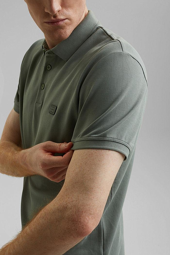 Piqué polo shirt in 100% organic cotton, LIGHT KHAKI, detail image number 1