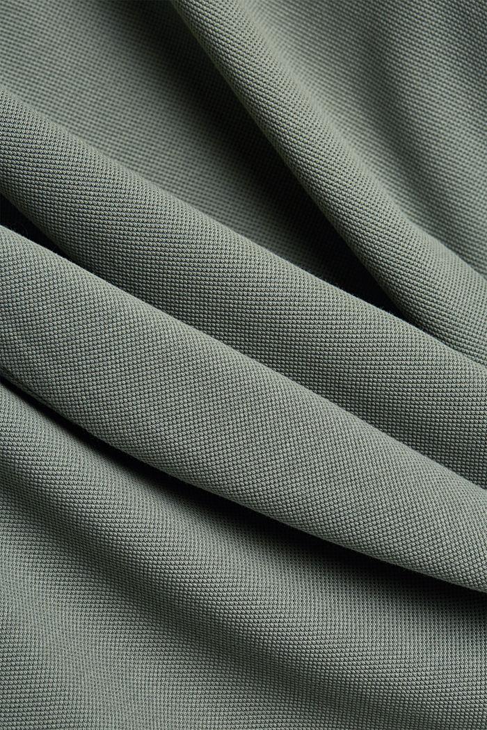 Piqué polo shirt in 100% organic cotton, LIGHT KHAKI, detail image number 4