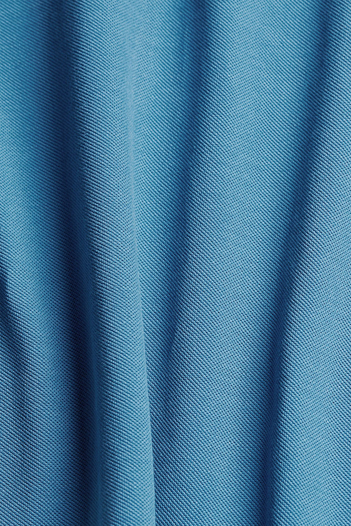 Piqué polo shirt in 100% organic cotton, PETROL BLUE, detail image number 4