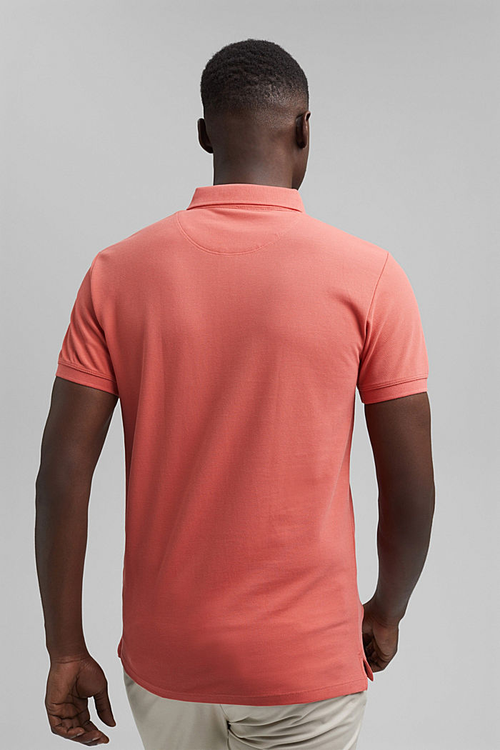 Piqué-Polo aus 100% Bio-Baumwolle, CORAL RED, detail image number 3