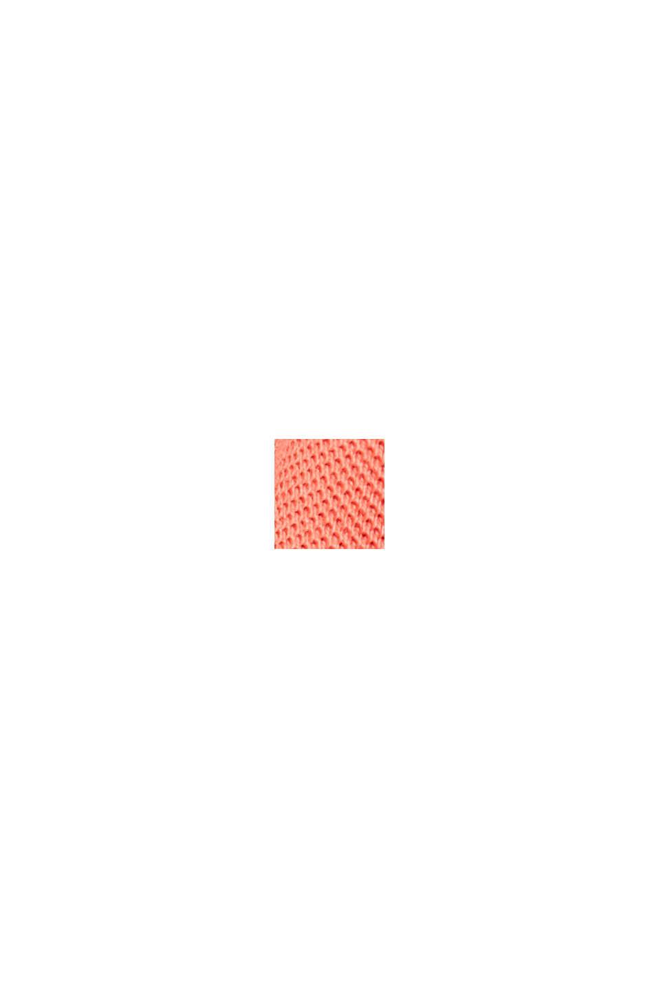 Pikeepaita 100 % luomupuuvillaa, CORAL RED, swatch