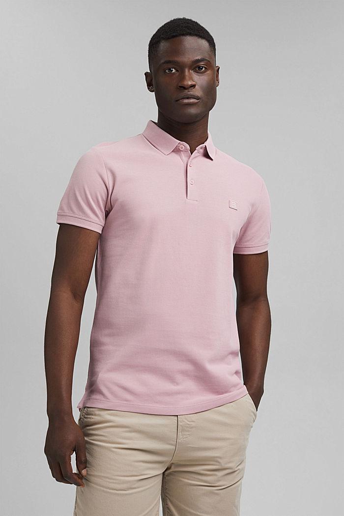 Piqué polo shirt in 100% organic cotton, PASTEL PINK, detail image number 0