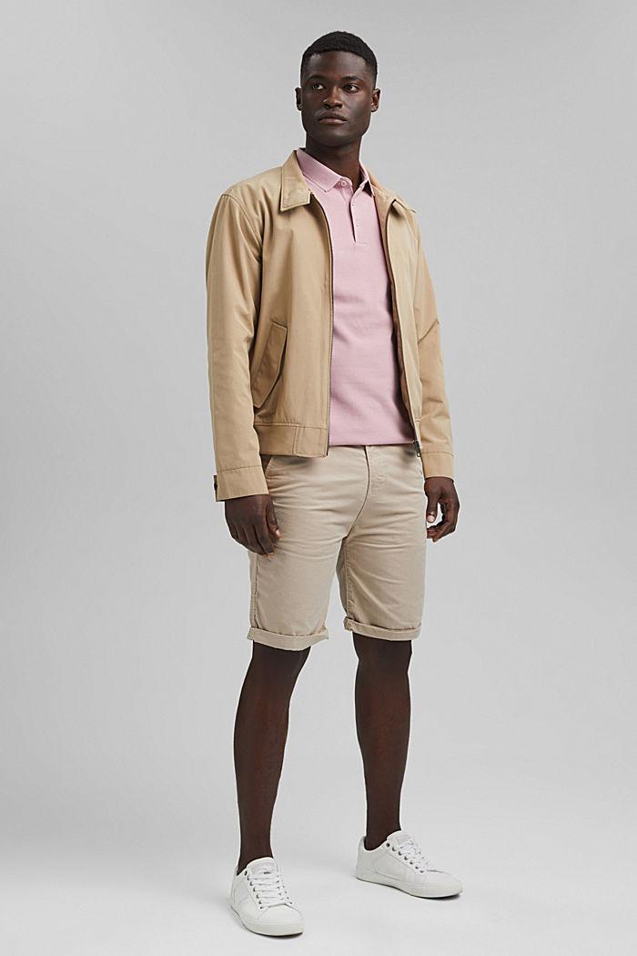 Piqué polo shirt in 100% organic cotton, PASTEL PINK, detail image number 2