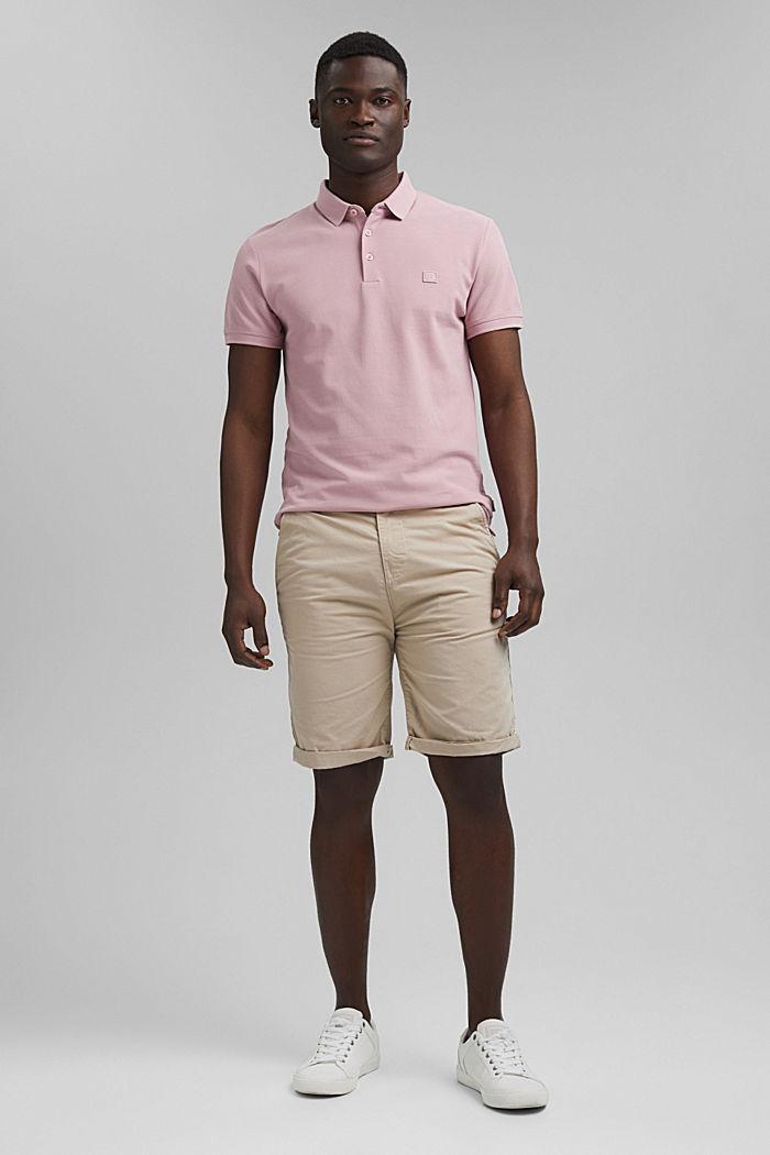 Piqué polo shirt in 100% organic cotton, PASTEL PINK, detail image number 6