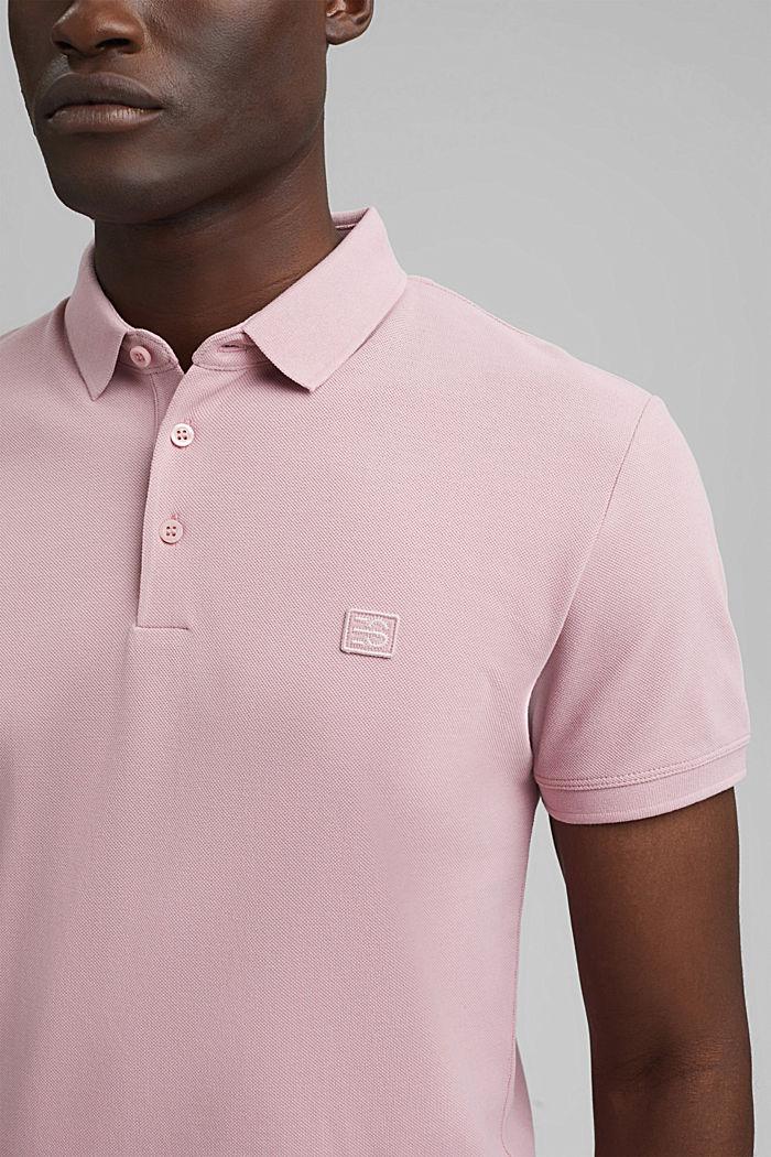 Piqué polo shirt in 100% organic cotton, PASTEL PINK, detail image number 1