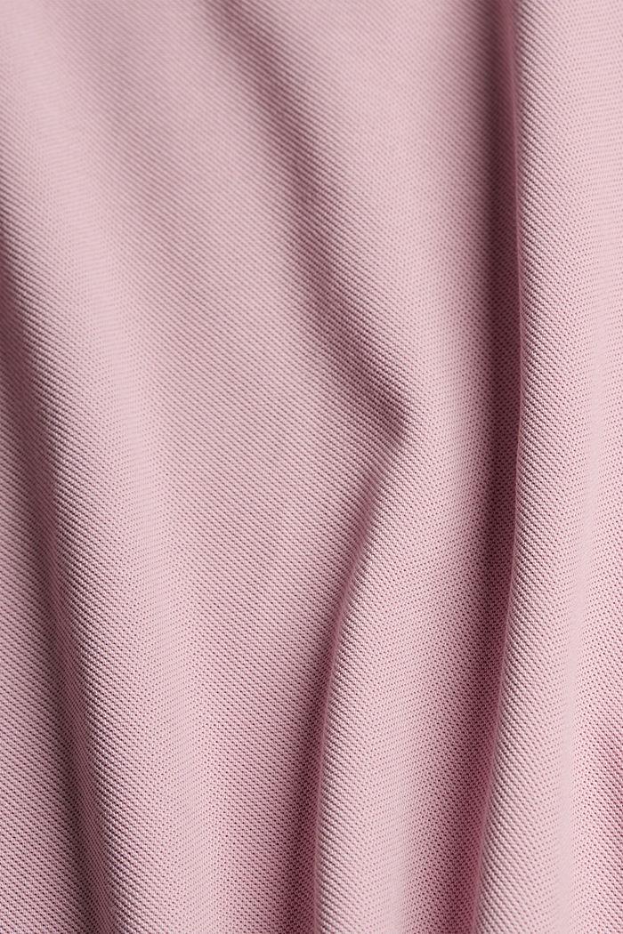 Piqué polo shirt in 100% organic cotton, PASTEL PINK, detail image number 4