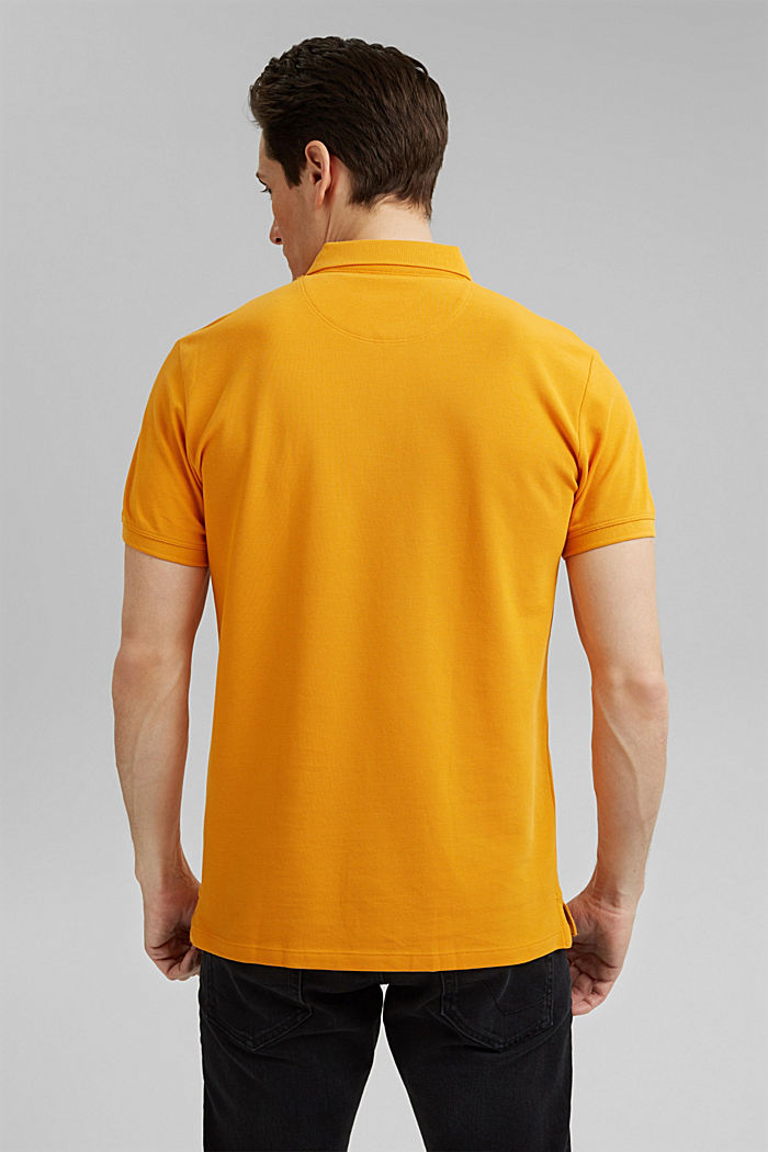 Piqué polo shirt in 100% organic cotton, SUNFLOWER YELLOW, detail image number 3