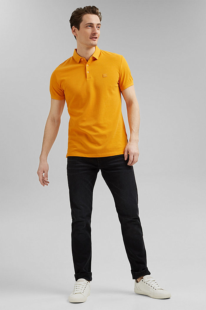 Piqué polo shirt in 100% organic cotton, SUNFLOWER YELLOW, detail image number 2